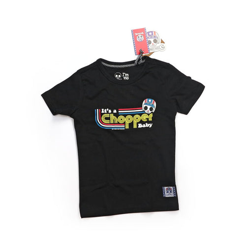BOBBY BOLT IT'S A CHOPPER BABY T-SHIRT BLACK