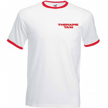 T-shirt Blanc Rouge Therapie Taxi