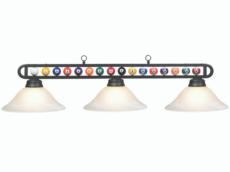 "RAM Game Room 55"" MB/White Billiard Ball Fixture"