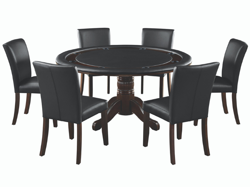 "RAM Game Room 60"" 2 in 1 Game Table with 6 Dining Chairs"