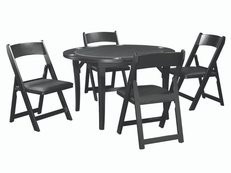 "RAM Game Room 48"" Folding Game Table Set with 4 Chairs"