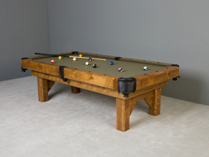 Viking Log Furniture - Barnwood Timber Lodge Pool Table