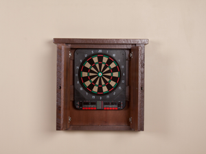 Viking Log Furniture -  Barnwood Dartboard Cabinet