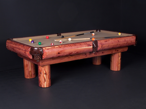 Viking Log Furniture - Red Cedar Pool Table