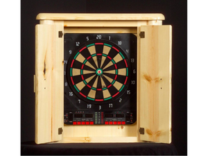 Viking Log Furniture - Log Dartboard Cabinet
