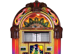 Rock-Ola Bubbler Peacock CD Jukebox CD6E-PB