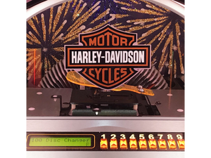 Rock-Ola Bubbler Harley-Davidson CD Jukebox Brushed Aluminum CD6E-HDF