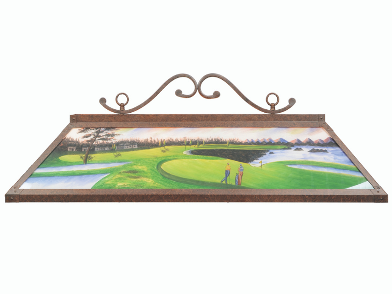 "RAM Game Room 48"" Hand Painted Billiard Light"