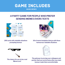 Load image into Gallery viewer, MamaMemes: A Party Game For People Who Love Memes