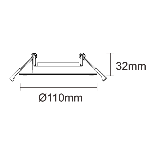 Adjustable 110mm (80mm Cutout)