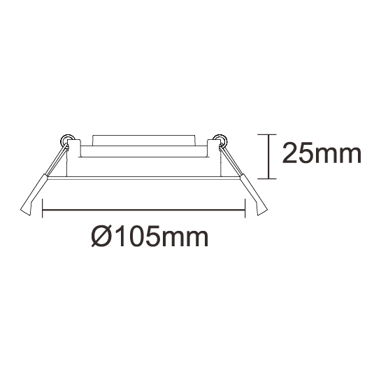 Adjustable 105mm (90mm Cutout)