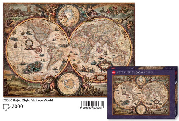 Deluxe Collection: VINTAGE WORLD MAP (2000 Piece)