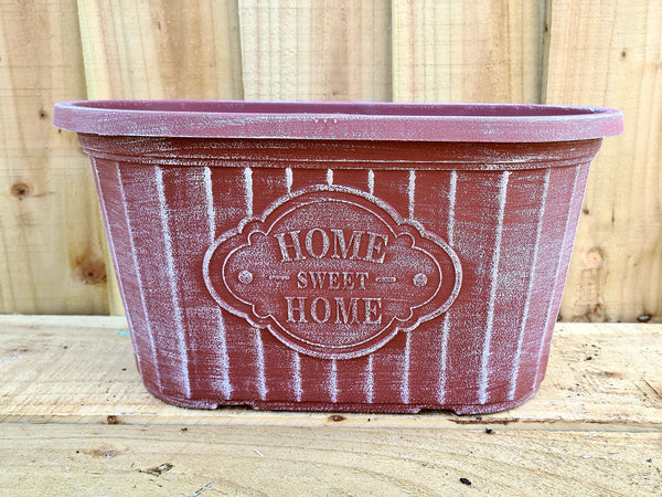 Home Sweet Home Oval Planter (Brick)