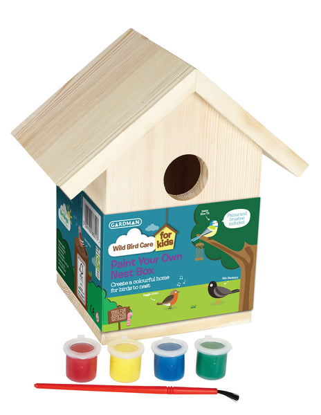 Childrens Paint-Your-Own Nest Box