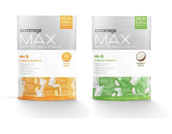 Coromega MAX Omega-3 (60 Single Serving Packets)