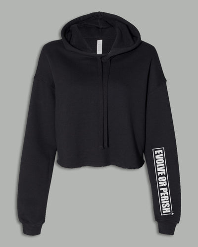 Cropped Top Hoodie - EVOLVE OR PERISH