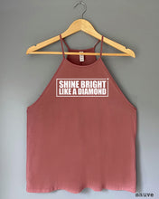 Load image into Gallery viewer, Flowy Tank Top - SHINE BRIGHT LIKE A DIAMOND