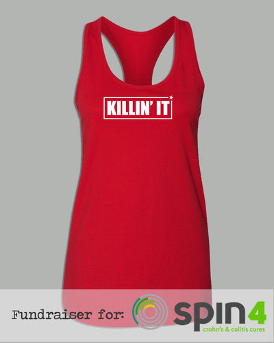 Racerback Tank Top - KILLIN' IT - Fundraiser for The Crohn's Colitis Foundation