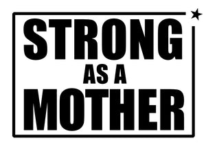 Racerback Tank Top - STRONG AS A MOTHER