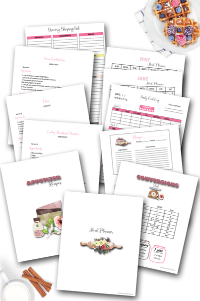 Ultimate Meal and Pantry Planner. All in One Kitchen Binder
