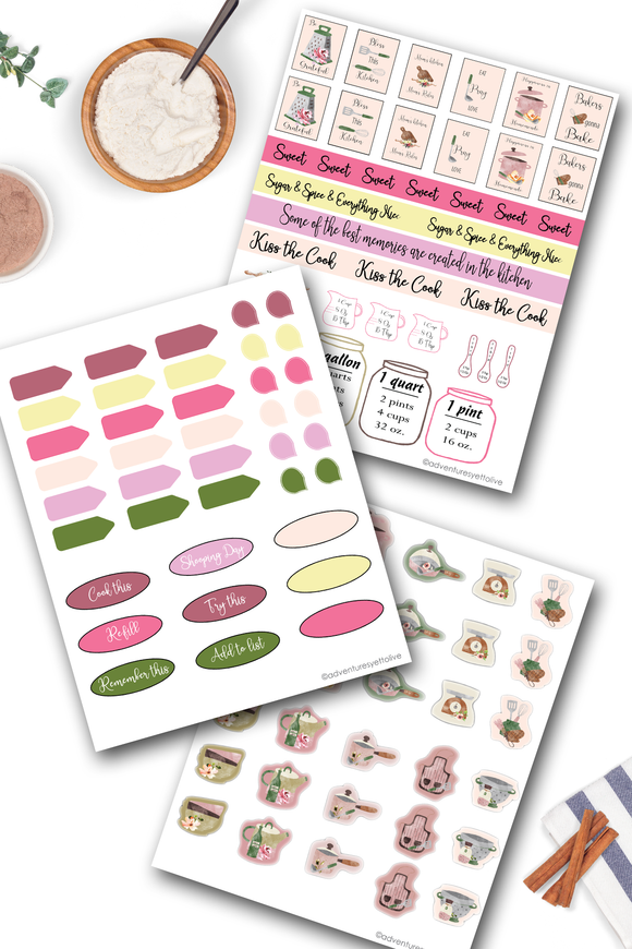 Print Your Own Pantry and Meal Planner Stickers