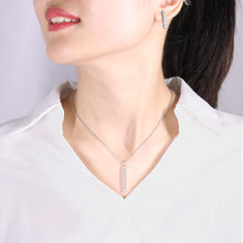 Load image into Gallery viewer, Ladye Geometry Silver Necklace and Stud Earring Jewelry Set, Allergy Free Fashion Jewelry