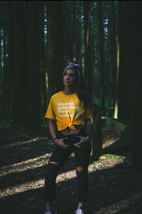 Wander. Adventure. Travel. Explore. T-Shirt (Yellow)