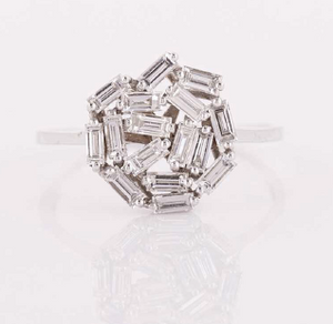18K WHITEGOLD RING 0.5CT