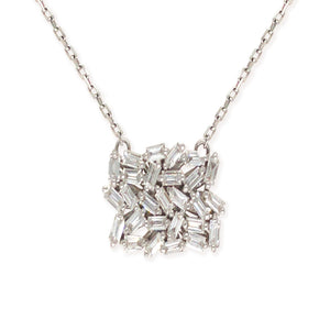 18K White Gold Signature Fireworks Necklace