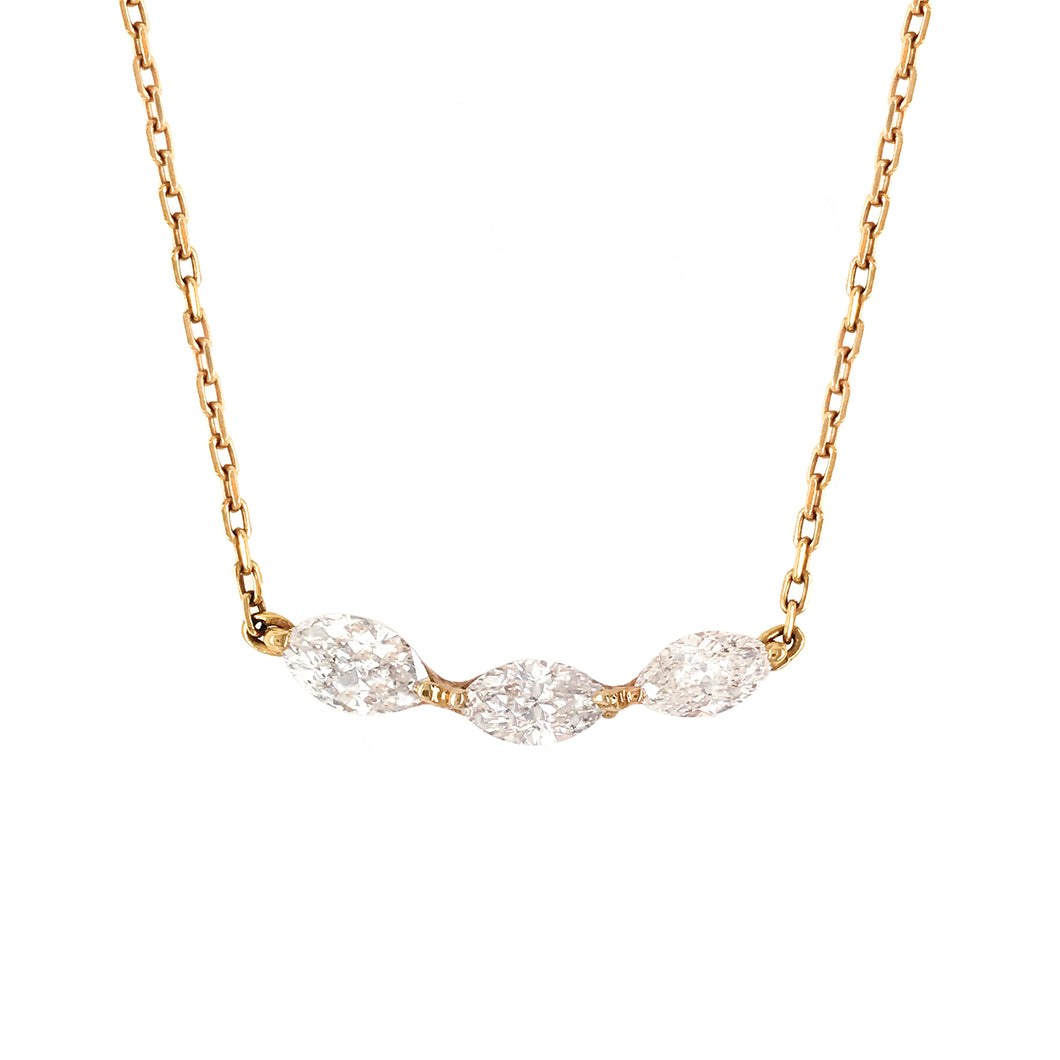 Everyday Sparkle Gold Necklace with Diamonds