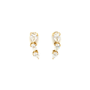 Everyday Sparkle Yellow Gold with Diamonds Earrings