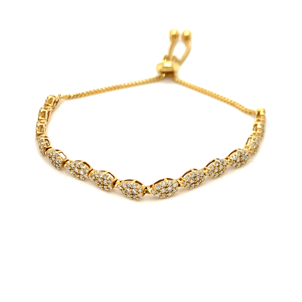 Everyday Sparkle Yellow Gold with Diamonds Bolo Bracelet