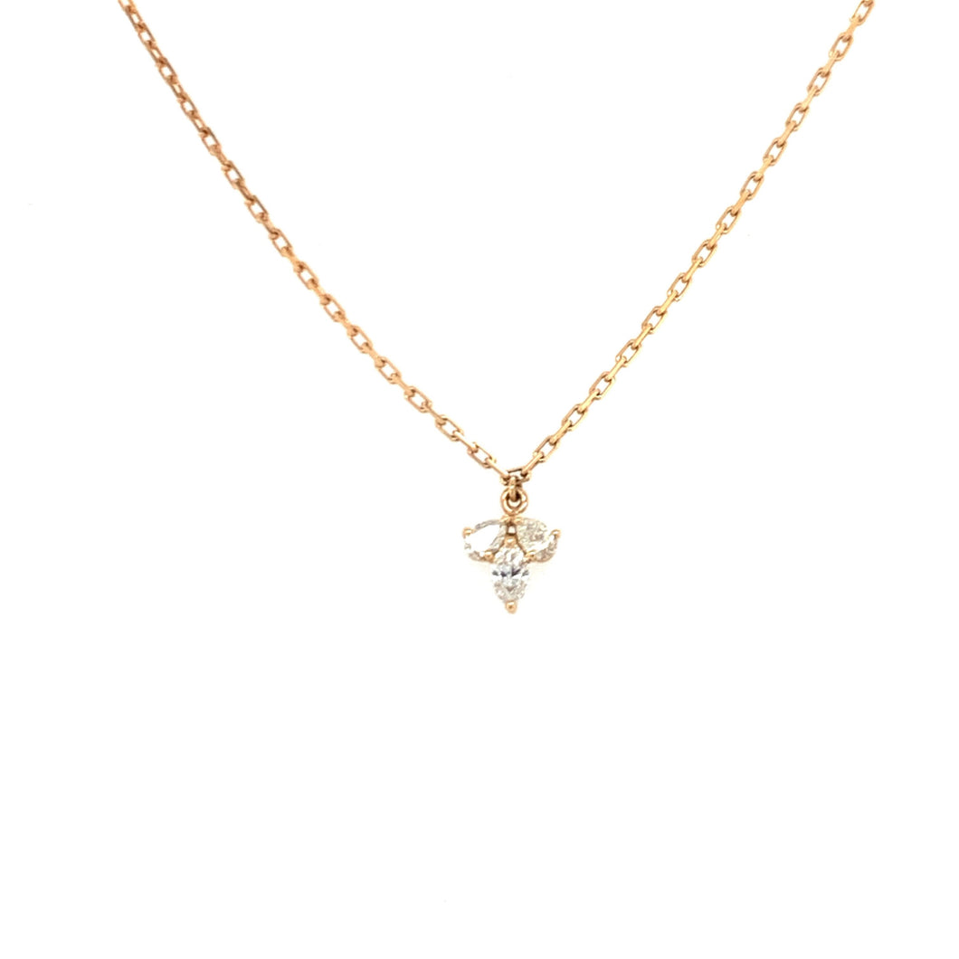 Everyday Sparkle Rose Gold with Diamonds Choker Necklace