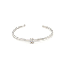 Load image into Gallery viewer, Everyday Sparkle White Gold with Diamond Bangle