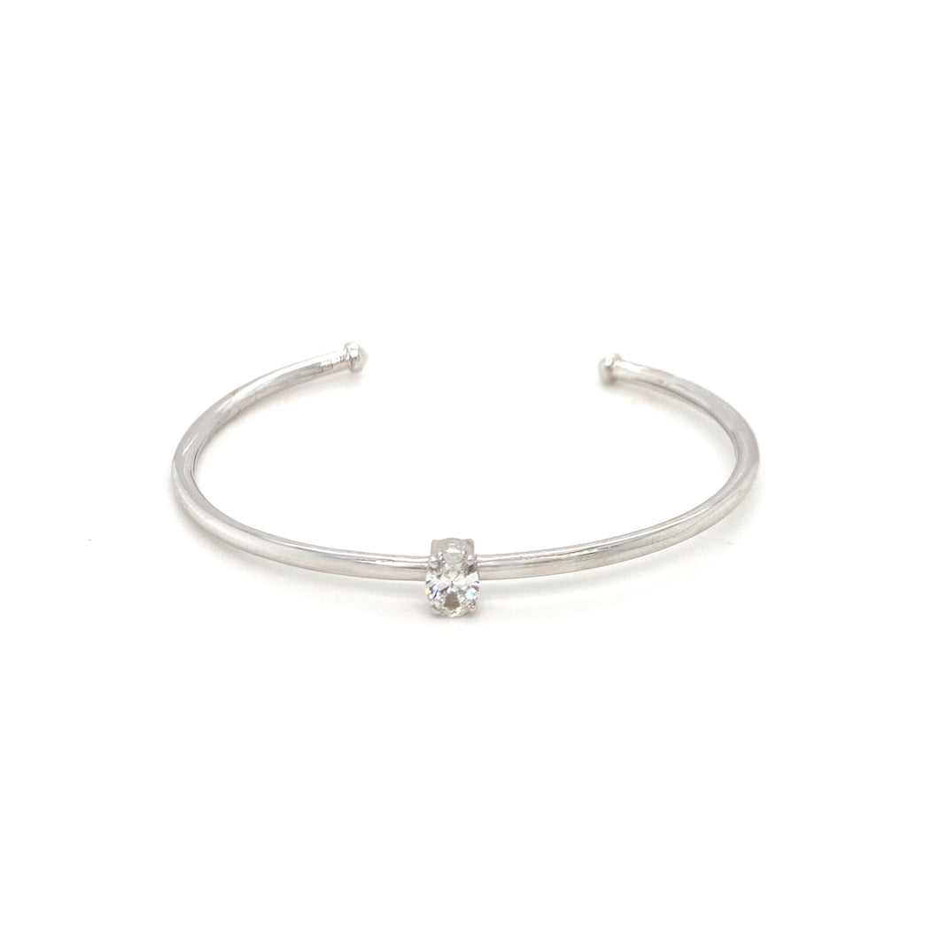Everyday Sparkle White Gold with Diamond Bangle