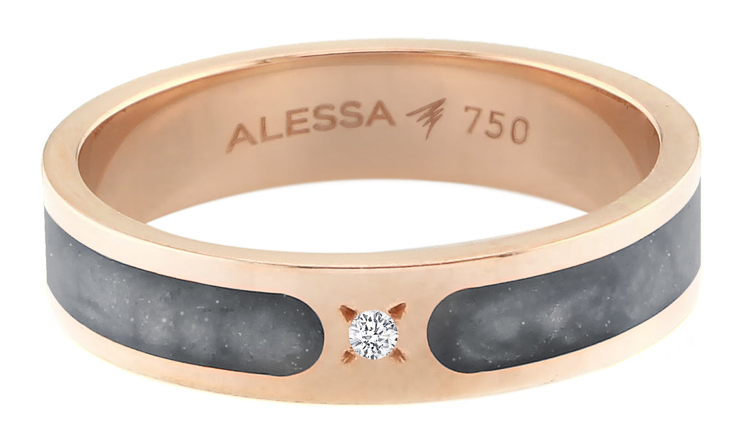 18k Rose Gold Spectrum Space Ring - Gold 3.14g