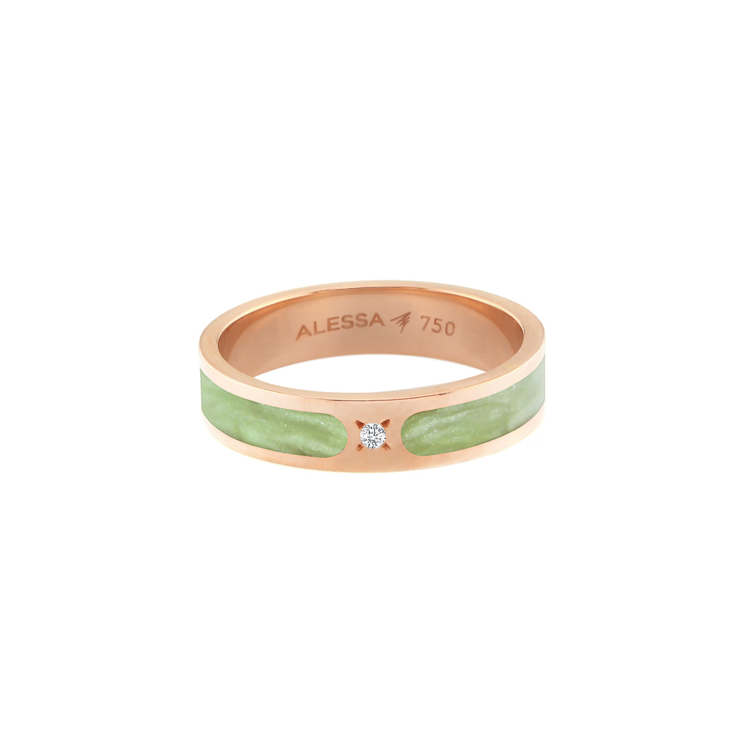 18k Rose Gold Spectrum Space Ring 2.73g