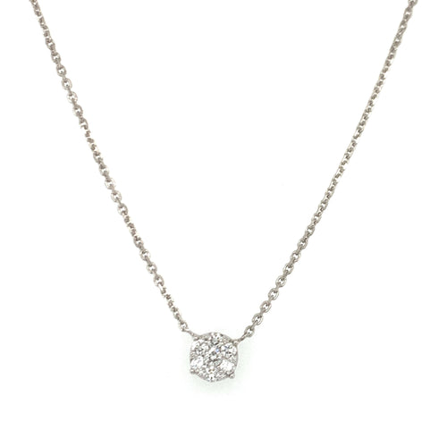 Everyday Sparkle White Gold with Diamonds Necklace