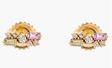 18K YELLOW GOLD POST EARRINGS