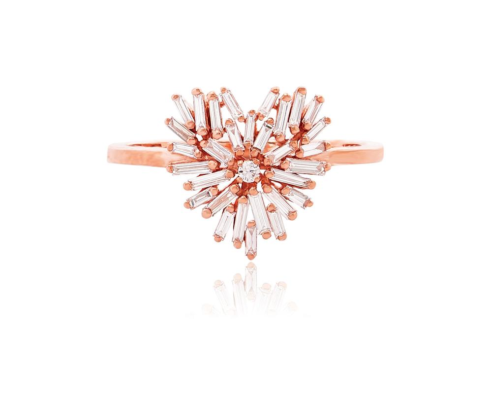 18k Rose Gold Mini Heartring