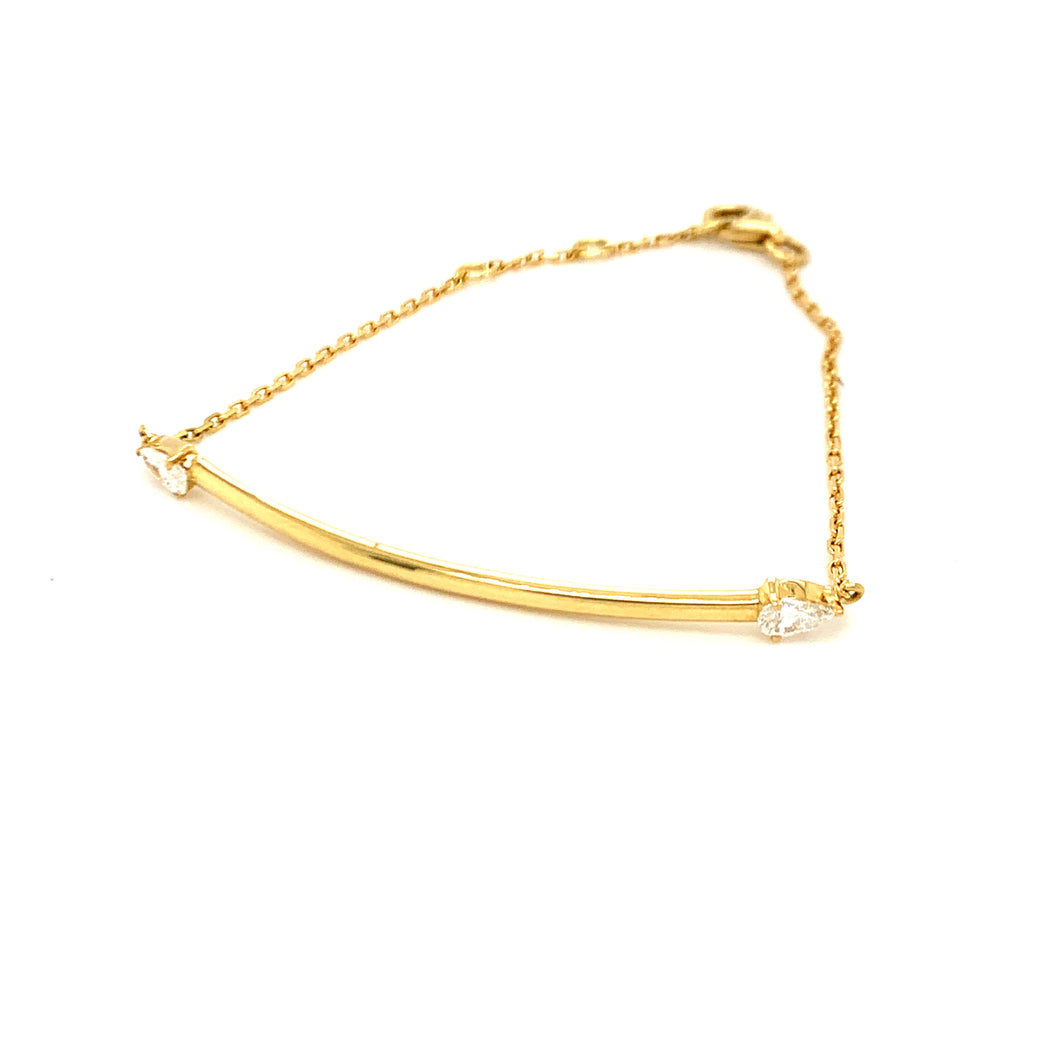 Everyday Sparkle Yellow Gold with Marquise Diamonds Bolo Bracelet