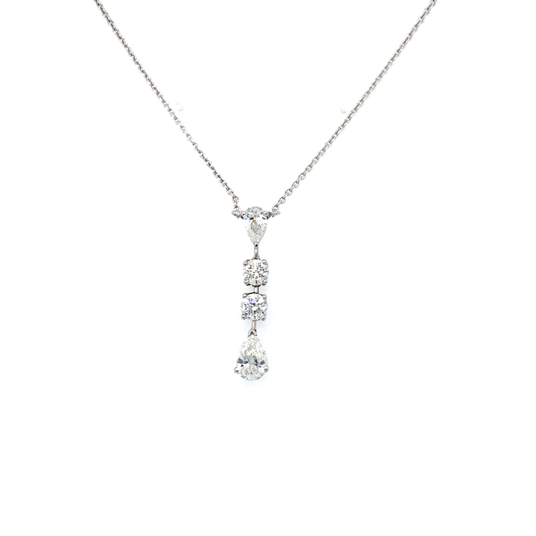 Everyday Sparkle White Gold with Diamonds Necklace- Pendant