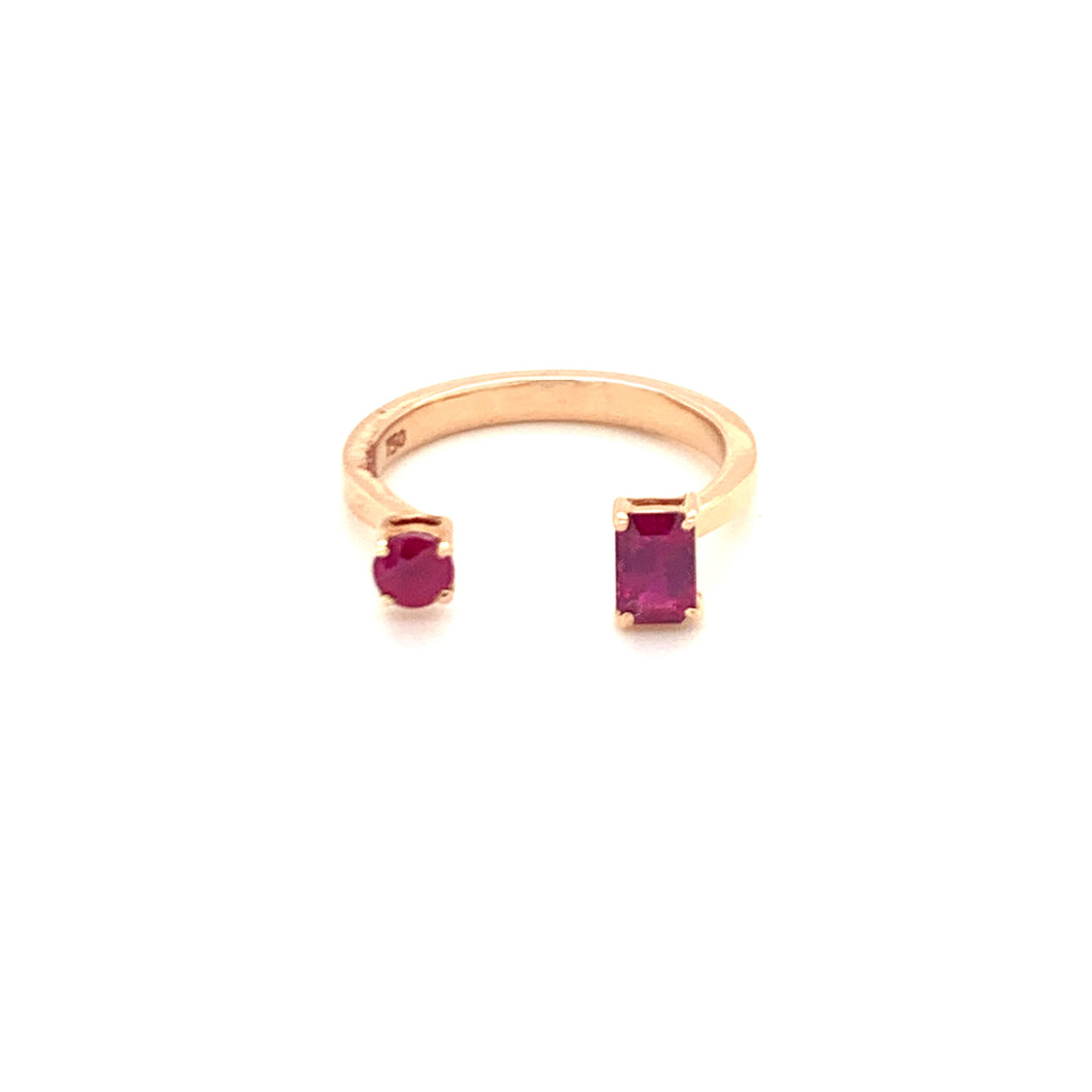 Forever Yours Rose Gold with Ruby Ring