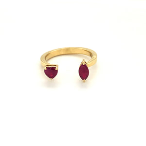 Forever Yours Yellow Gold with Ruby Ring
