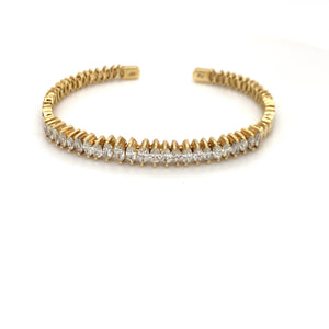Everyday Sparkle Yellow Gold with Marquise Diamond Bangle
