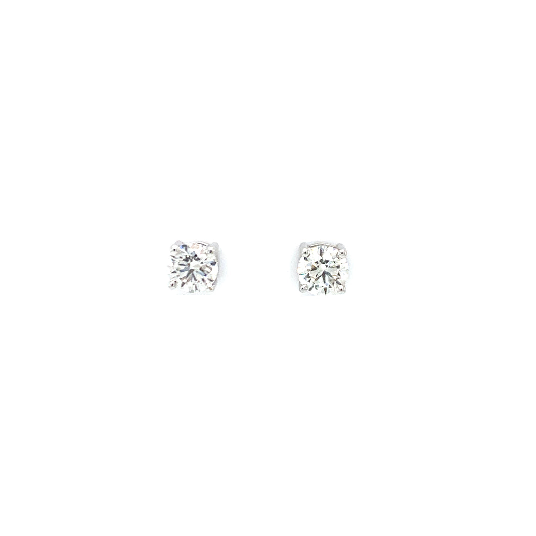 Everyday Sparkle White Gold with Diamonds Stud Earrings