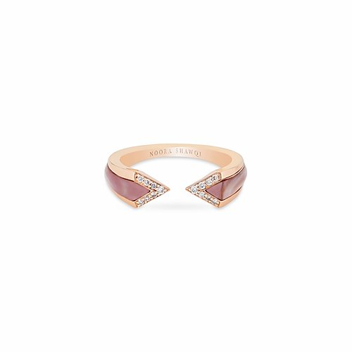 18K ROSE GOLD- JUNONIA RING- PINK MOTHER OF PEARL- 2.52G
