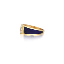 Load image into Gallery viewer, Yellow Gold Alignment Ring With Diamonds