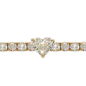 Everyday Sparkle 18 K Gold And Diamonds Bracelet