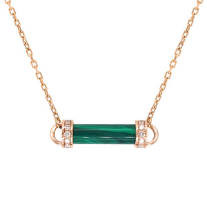 Tourmaline Single Pillar Pendant